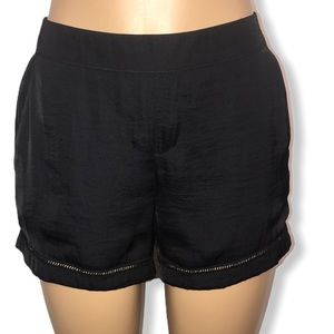 juicy couture shorts black Slinky eyelets details
